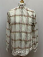 Mens | Timberland Checked Long Sleeve Casual Button Shirt | White/Pink| Size S