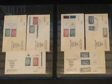 Israel world Congress 1948 Moadim Philatelic Letter Cover Lot Bale 11-13 Ful Tab