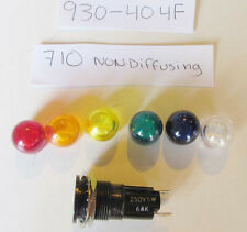 930-404F 68K Ohm Lamp Holder T-3-1/4 Neon Mini Bayonet Stovepipe Lens Solder