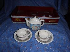 Enesco Memories of Yesterday Children's Tea Set A Friendly Chat A Cup of Tea