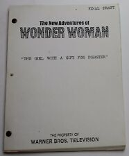 Wonder Woman * 1979 Original TV Show Script * The Girl with a Gift for Disaster