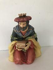 Grandeur Noel Kneeling King nativity replacement Christmas figure porcelain