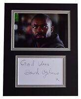 David Oyelowo Signed Autograph 10x8 photo display TV Spooks AFTAL COA
