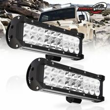 2x 10inch 54W LED Spot Flood Work Light Bar 4WD SUV Driving Offroad Lamp Truck