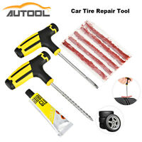 Auto Tubeless Tyre Tire Puncture Plug Repair Kit Needle Patch Fix Handheld Tools