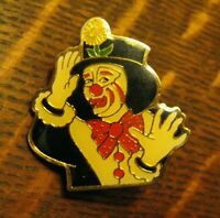 Circus Clown Lapel Pin - Vintage Emmett Kelly Weary Willie Hobo Clown Badge Pin