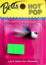 Betts Tackle Black White Black Flecks HOT POP Fishing Poppers