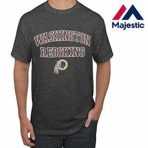 New Majestic, Big & Tall NFL Washington Redskins Heather Gray Short Sleeve Shirt