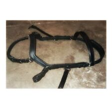 cob small horse Micklem style BLACK leather bridle  & reins NEW!! FREE POST