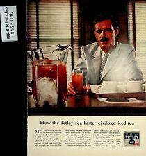 1958 Tetley Tea Taster Civilized Ice Tea Vintage Print Ad 7568