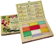 Mixed Soap Sampler Gift Set Box Of 12 Natural Guest Aussie Bathroom - Soaps -