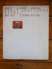 ART AS LIVING RITUAL catalogue.  Vito Acconci, Chris Burden, Baldessari,..1974
