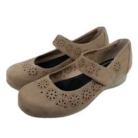 Abeo 24/7 Everleigh Size 9 Nubuck Leather Comfort Shoes Brown Mary Jane NWOT
