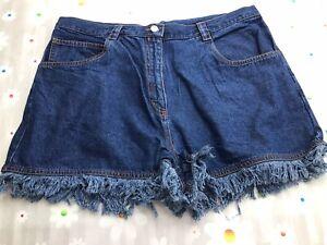 Womens Joie De Vivre Bleached Denim (Short) Shorts Size 14