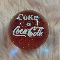 🥤Vintage glass Coke is Coca Cola paperweight  $30  $0  |  Size: OS  |  Coca...
