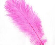 4pcs Pink Dyed Long Ostrich Feathers Tail Fan DIY Hat Wedding Jewelry Boho Costu
