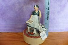 """SCHMID """"Daydreams"""" 1977 LIMITED EDITION Ceramic MUSIC BOX 356 tired Housewife"""