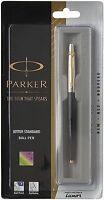 4xPARKER JOTTER GT BALL POINT PEN (BLACK) BLUE INK WITH FREE WORLDWIDE SHIPPING