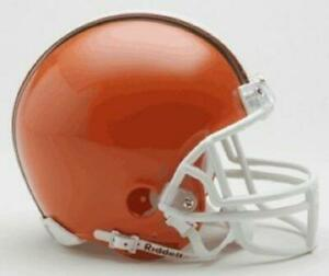 Cleveland Browns Throwback Mini Replica Helmet with Z2B Facemask [NEW] NFL