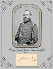 """President & Civil War Gen James A. Garfield Photograph & Autograph 8-1/2"""" X 11"""""""