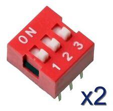 2x Switch commutateur interrupteur 3 positions / Buttons Switch DIP 3 positions