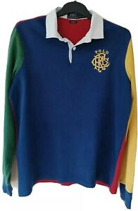 Vintage Ralph Lauren long sleeve rugby shirt,  large size.  Good condition.