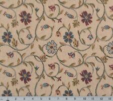"Home Decor Drapery Jacquard Brocade Fabric Floral 40""L x 56""W"