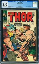 Thor #126 CGC 8.0 1966 1st Issue! Avengers! Iron Man! Thor! F7 138 cm SALE!