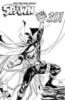 Spawn #301 Cover I B/W McFarlane Image Comic 1st Print 2019 NM