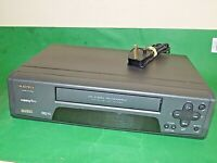 MATSUI VP9407A VCR VHS VIDEO CASSETTE RECORDER Vintage Black Smart Fully Tested