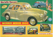 Morris Minor 1000 Large Format MODERN postcard by Jenna