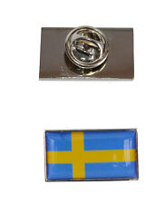 Sweden Flag Tie Pin with free organza pouch