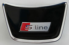 AUDI a1 ORIGINALE S-LINE VOLANTE clip SCRITTA LOGO EMBLEMA Volante Sport Volante