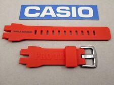 Genuine Casio Pro Trek PRW-3000 PRW-3000-4 orange resin rubber watch band strap