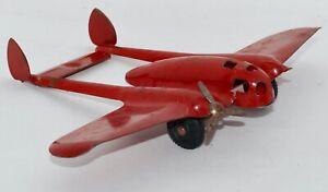 """Vintage Wyandotte Pressed Steel """"Crusader"""" Toy Airplane"""