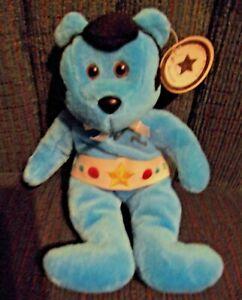 """9"""" CELEBRITY BEARS Born A Star #6  BLUE   Cute Guy!!"""