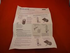 Sega Game Gear Rechargeable Battery Pack Instruction Manual Booklet ONLY