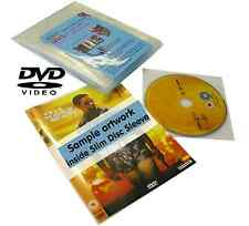 Slim Disc DVD Media Space Saving Cover Sleeve Storage System 25 Pack