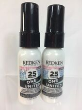 (2) One United All-In-one Multi-Benefit Hair Treatment Redken 1 oz Travel Size