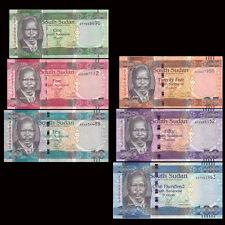 South Sudan SD SUDN, Set 6 PCS:1+5+10+25+50+100 Pounds, 2011, P-5-10, lot UNC