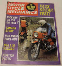 MC Mechanics June 1974 Norton Isolastic mount, Rickman CR750, BSA A7/A10, Yamaha