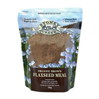 NEW Stoney Creek Organic Brown Flaxseed Flax seed Meal 1kg