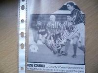 Original Hand Signed Press Cutting- Soccer Stars ''DEREK ADAMS''