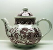Churchill Red Oriental Ceramic Teapot (made in England)