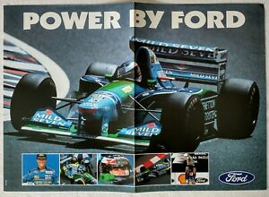 1994 Michael Schumacher Benetton B194 Power by Ford Poster F1 Cosworth Zetec-R