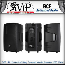 RCF HD 12-A Active 2-Way Powered Monitor Speaker 1200W Amplified -DEALER-