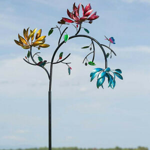 Metal Garden Wind Spinner Windmill Outdoor Lawn Home Decor Patio Wind Spin