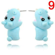 1 Pair Cute Soft Pottery Animal Stud Earrings Handmade Polymer Earrings  LJ