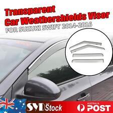 Transparent Weathershield Auto Door Rain Visors Deflector For Suzuki Swift 14-16