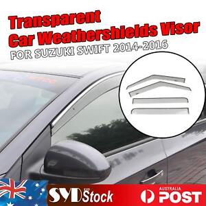 Transparent Weathershield Car Window Visor Rain Deflector For Suzuki Swift 14-16